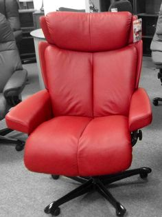 Stressless Magic Office Chair, Paloma Cherry, Available at Scanhome Furnishings in Green Bay.