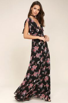 4928d158edfb6  Lulus -  Lulus Wings of Love Black Floral Print Maxi Dress - AdoreWe.