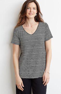 Wearever printed V-neck top