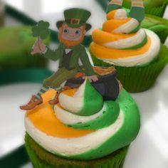 Patrick's Day Cupcakes - With Edible Leprechauns - Minimum order 12 Cupcakes 12 Cupcakes, Leprechaun, Dublin, Ireland, Bakery, Luxury, Desserts, Food, Essen