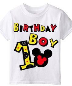 Birthday Boy Mickey Shirt by LittleSuperPowers on Etsy