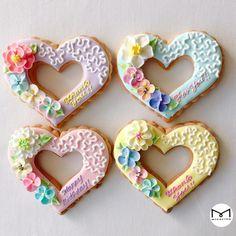 オープンハート メッセージアイシングクッキー #micarina #icing #cookie #icingcookie #アイシングクッキー#伊勢丹新宿店#イセタンガール#isetangirl#伊勢丹 #ミカリナ #手土産 #プチギフト #花々祭