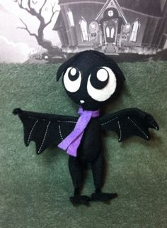 Scaredy Bat 4 posable doll of Gloomsville by theStudioGiftShop