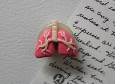 Lungs Polymer Clay Magnet