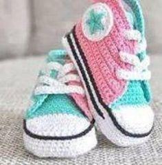 botitas bebé en crochet  lana,hilo crochet,ganchillo