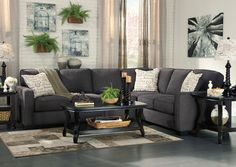 Jennifer Convertibles: Sofas, Sofa Beds, Bedrooms, Dining Rooms & More! Alenya Charcoal Extended Sectional