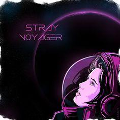 https://www.curioos.com/product/print/stray-voyager  #synthpop #retrowave #1980s #80s #eighties #neon  #space #austronaut #print #printshop #poster #postershop #interior