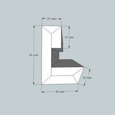 Lichtvoute Steckbausatz / für Ausleuchtung der Decke