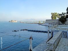 View of the western breakwater of the port of with Fortress across the entrance channel and the facilities of the Nafplio Yacht Club right below. Yacht Club, Greek Islands, Westerns, Entrance, Greece, Channel, River, Outdoor, Greek Isles