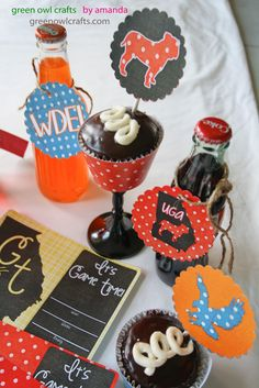 green owl crafts: College Football Freebies: Printable Party Packs