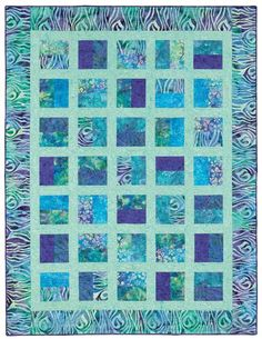 Time to go batik shopping! These fabrics are stunning. From Quilt Batik! Make it in black/gold? Strip Quilt Patterns, Jelly Roll Quilt Patterns, Strip Quilts, Quilting Patterns, Quilting Ideas, Quilting Templates, Quilt Blocks, Quilting Board, Quilting Tutorials