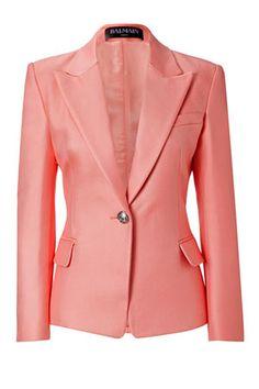 BALMAIN  Rose Textured Cotton-Silk Blazer