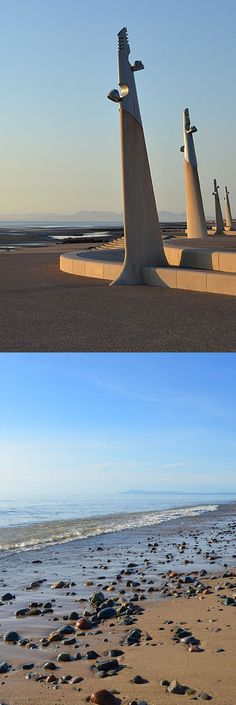 Cleveleys Beach and New Promenade, Lancashire Feb 2017, St Anne, Blackpool, Holiday Destinations, Homeland, Airplane View, Seaside, Beaches, Growing Up