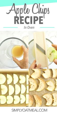 Here are easy step-by-step instructions to learn how to make apple chips in the oven. The recipes takes you through each part of the process and shares the best tips to improve results. Oatmeal Toppings, Crunchy Granola, Apple Chips, Homemade Peanut Butter, Dried Apples, Granny Smith, Apple Slices, Oven Recipes, Serving Size