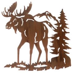 Moose+Silhouette+Metal+Wall+Decor