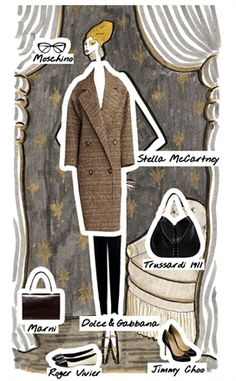 Look 9 - Sofia - Coat: to find out what the Doll is wearing, click on the illustration...