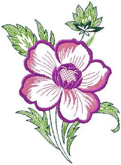 Flower embroidery design for free download