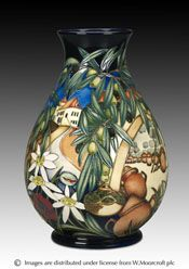 Moorcroft Pottery - Olive Press by designer Kerry Goodwin