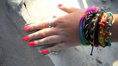 summer jewelry in rainbow color