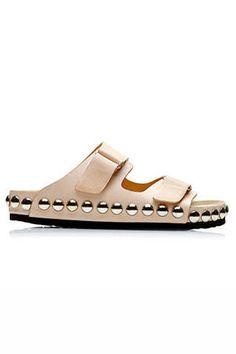 Must Have Nude Sandals - Best Spring Heels - Elle #EZONEFASHION