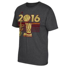 Cleveland Cavaliers adidas 2016 NBA Finals Champions Locker Room T-Shirt - Gray