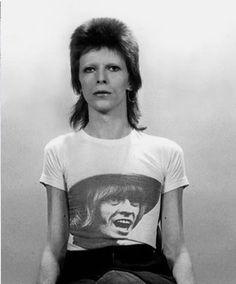 David Bowie Damen Smoking Photograph T-Shirt