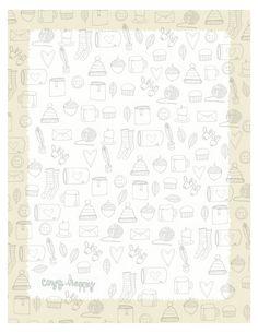 Free printable planner page with seasonal fall illustrations. JPG
