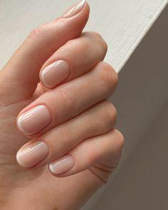 Nail Manicure, Gel Nails, Acrylic Nails, Bridal Manicure, French Manicure Short Nails, Cute Nails, Pretty Nails, Milky Nails, Nagellack Design