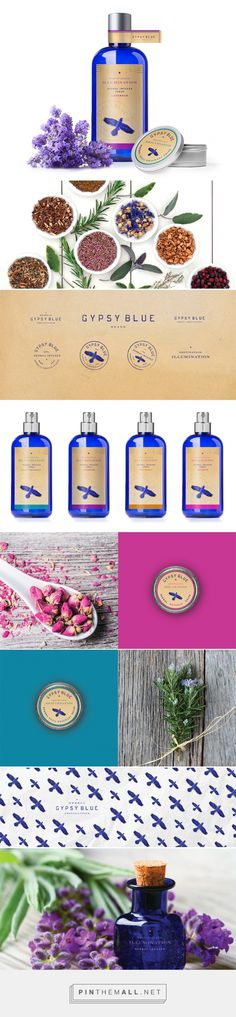 Gypsy Blue Therapeutic Body and Home Care Product Packaging by Farm Design | Fivestar Branding Agency – Design and Branding Agency & Curated Inspiration Gallery #skincare #beautypackaging #packaging #packaginginspiration #package #packagedesign #design #designinspiration
