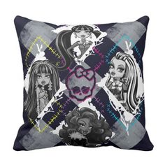 Monster Excessive Women Argyle Throw Pillow.  See even more at the image