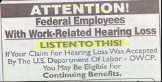 "This is a good example of how poor word choice can make their message less effective. Obviously the hearing loss is going to make it hard for the audience to ""listen up."""