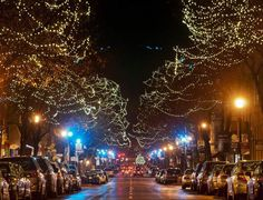 Downtown Frederick, MD all decorated for Christmas!