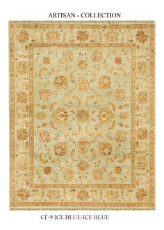 Artisan Ice Blue Elche Area Rug