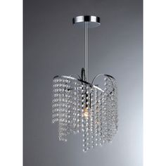 $71 @Overstock.com - Ann Crystal Chandelier - Bring a hint of sophistication to your room with this decorative crystal chandelier light. This hard-wired one-light chandelier features strands of glass beads for a unique presentation. It comes with three feet of wire for versatile installation.  http://www.overstock.com/Home-Garden/Ann-Crystal-Chandelier/7547143/product.html?CID=214117 $70.99