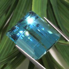 GIA Certified Loose natural Emerald step cut Blue Aquamarine Beryl 23.31ct
