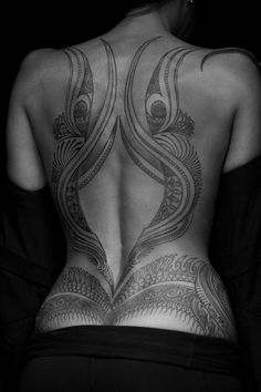 This back piece and tramp stamp are unique, gorgeous and very sexy.