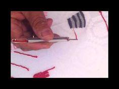 Cómo bordar con la Aguja Mágica - Creaciones Angie - YouTube