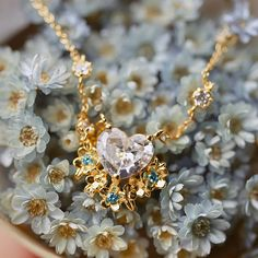 """""""Heart bouquet"""" 💕🌸 . . . . #mothersday #gift #jewelry #necklace #etsy #flowers #bouquet #diamond"""