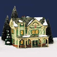 "Department 56: Products - ""Stick Style House"" - View Lighted Buildings"