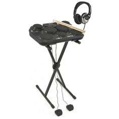 Portable Electric Drum Pad Pack by at Drum Pad, Drum Lessons, Frame Stand, Drum Kits, Stereo Headphones, Percussion, Drums, Two By Two, Packing