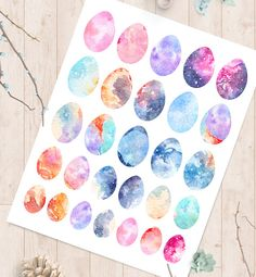 Arts And Crafts Clipart Easy Arts And Crafts, Diy Home Crafts, Decor Crafts, Craft Stickers, Scrapbook Stickers, Planner Decorating, Easter Colors, Printable Planner Stickers, Watercolor Pattern