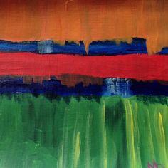 Earth. Acrylic painting