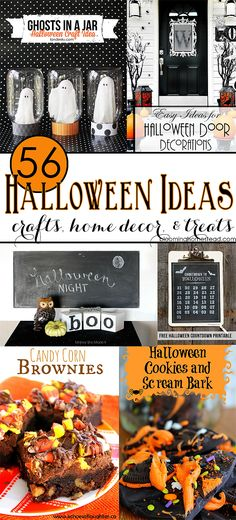 56 Halloween Ideas at Blooming Homestead #halloween #halloween Decor