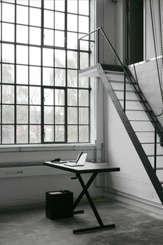✭ the windows with the industrial stairs Industrial Stairs, Industrial Windows, Industrial Living, Industrial Interiors, Modern Industrial, Industrial Design, Industrial Workspace, Industrial Industry, Interior Stairs