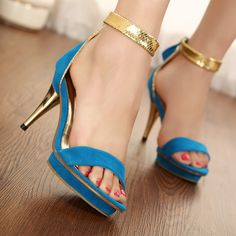 4427c4f553d5 Genuine Real Leather Top Brand Famous Designer High Thin Heels Back Zip  Black Blue Summer Sandals Female Shoes High Quality Sale  41.99