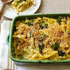 Weight Watchers Baked Macaroni and Cheese with Broccoli