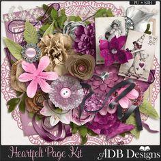 Collections :: H :: Heartfelt by ADB Designs :: Heartfelt Page Kit