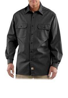 26af2c1102 Carhartt Long-Sleeve Twill Work Shirt