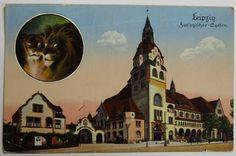 Neu in der Sammlung: eine Postkarte vom Leipziger Zoo. Versendet 1929. /// Foto: Museum für Druckkunst Leipzig