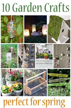 10 Garden crafts that are perfect for spring from @Vanessa Samurio Samurio Mayhew & CraftGossip